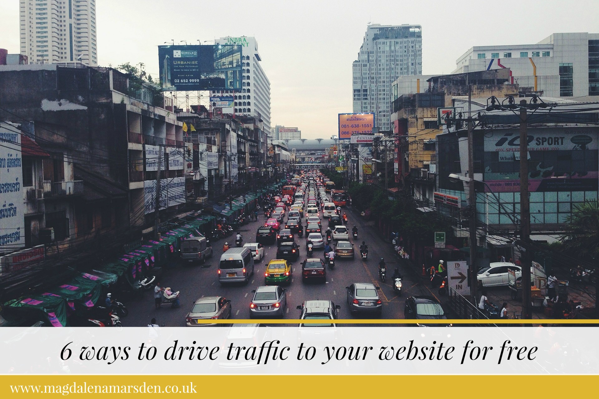 6 ways to drive traffic to your website for free